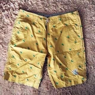 Mustard Chino Shorts