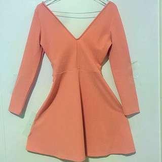 Brand New Showpo Dress In Salmon Pink Size 8