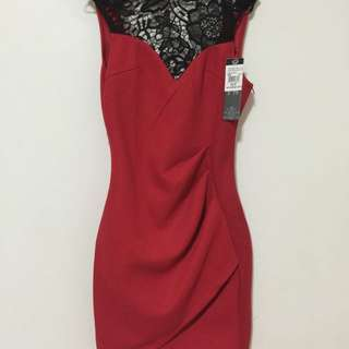 Red High Top Bandage Dress Size 8