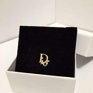 Vintage Christian Dior Logo Clip Earring