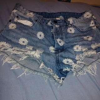 Ardene High Waisted Denim Shorts