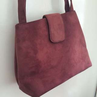 Look A Like Suede Bag