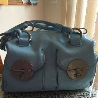Mimco Ice Blue Turnlock