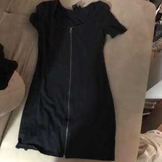 Zipper Up Dress