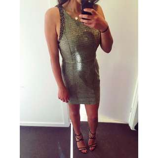 Gold Forever 21 Short Party Dress In Size 8