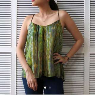 LOVE 21(Sub-brand of Forever 21) Green Flowy Top