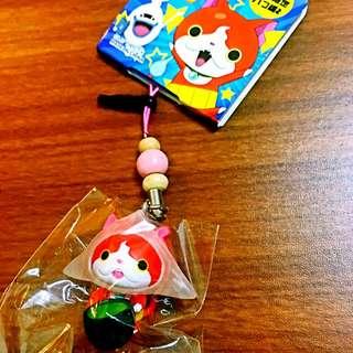 日本帶回-京都限定-吉胖貓手機吊飾-生八橋