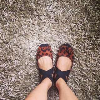 Animal Print Ballerina Flats