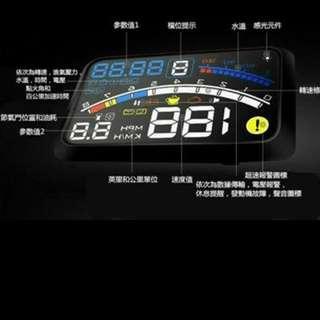 2016年最新版F4-OBD2/EUOBD 抬頭顯示器 即插即用, 顯示內容更豐富(睇到行緊幾多波, 汽車速度,引擎轉速,水溫(電壓/進氣壓力/節氣門位置/點火提前角/百公里加速時間),瞬間油耗,平均油耗,休息提示,發動機故障,)