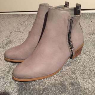 (PENDING) Grey Boots
