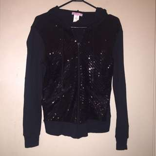 Black Sequinned Supre Jacket