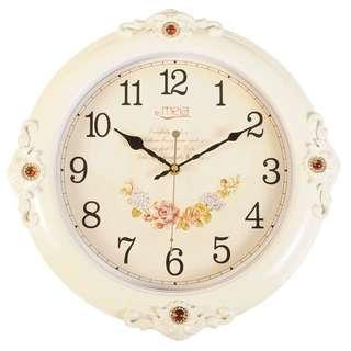 古典鄉村浪漫 質感壁鐘 掛鐘 16英吋 兩色