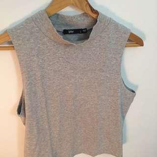 Sportsgirl Grey Crop Top