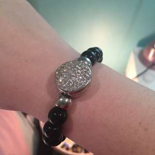 Black And Silver Sparkly Bracelet