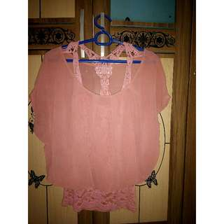 Blouse Hippie Peach