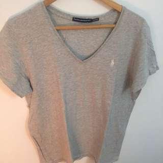Ladies Grey Ralph Lauren T Shirt