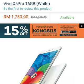 "Original Sealed Vivo® X5 Pro 5.2"" Smartphone (White) + FREE TEMPERED GLASS SCREEN PROTECTOR"