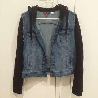 H&m Denim Jacket With Hoodie