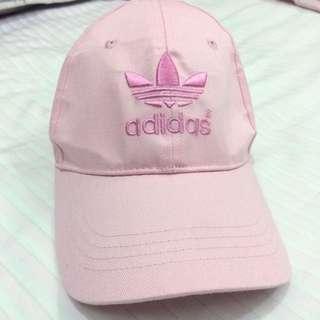 Adidas 粉紅 老帽