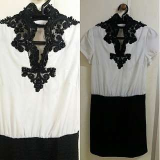 Black and White Bkk Dress