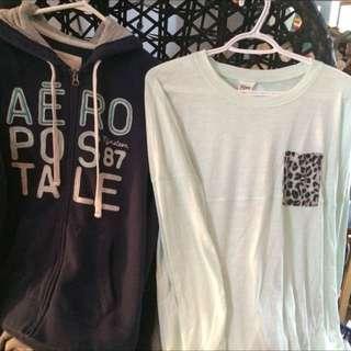 Areo Hoodie & PINK Long Sleeve
