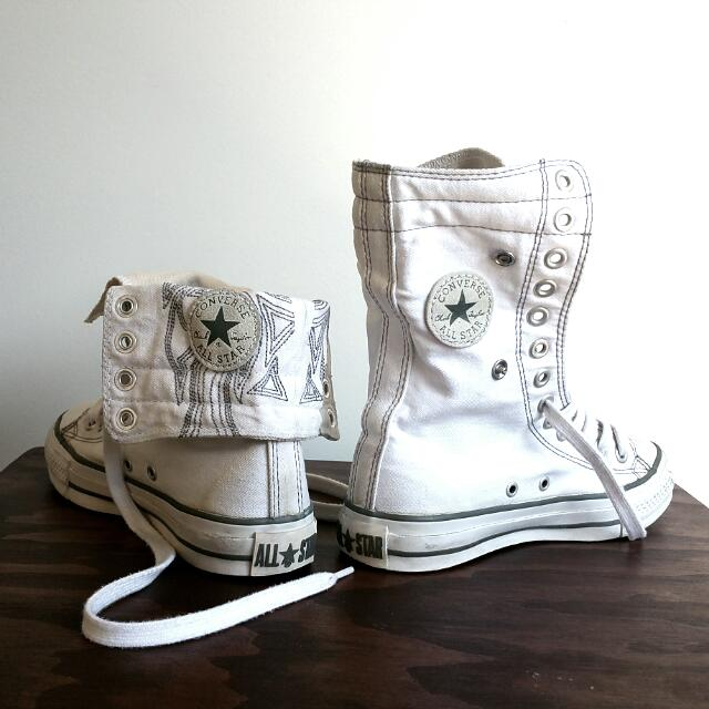 2 Ways White All Star Converse Sneaker Size 36.5