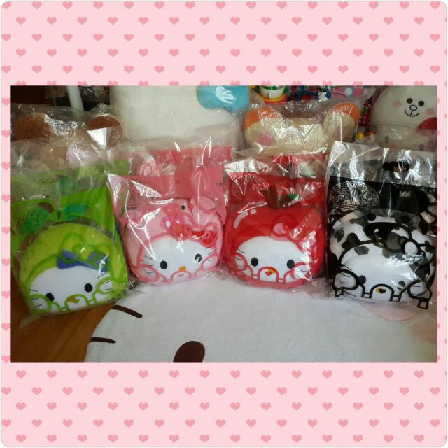 4款合售💓麥當勞仲夏農場kitty抱枕(乳牛🐄+蘋果🍎+小猪🐷+梨子🍐)