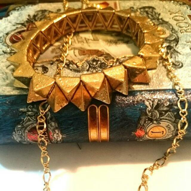 降 金色鉚釘手環