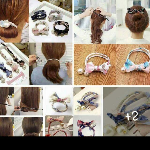韓版 盤髮 包頭 髮飾