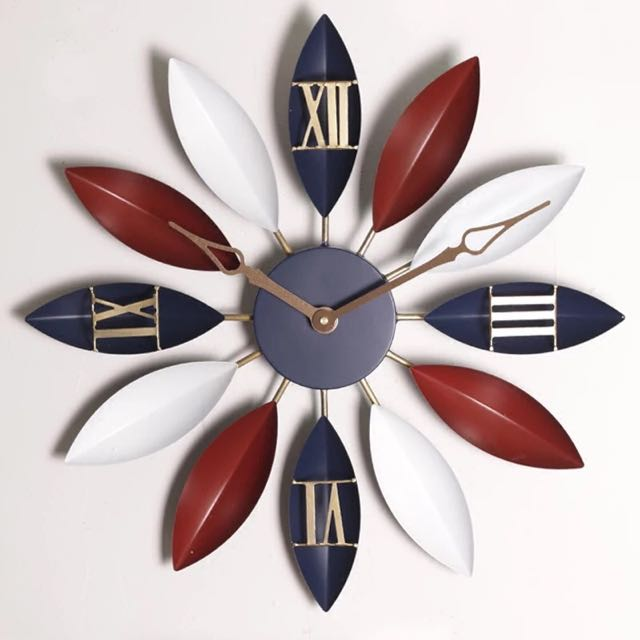 純手工藝 鐵藝 復古造型 靜音掛鐘 壁鐘
