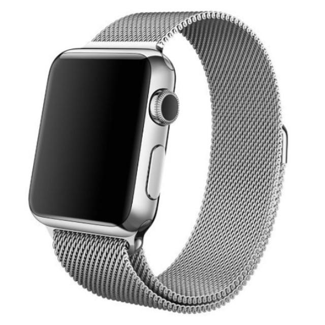 Apple Watch 磁吸式米蘭錶帶 現貨銀/黑各2條(不含錶頭)