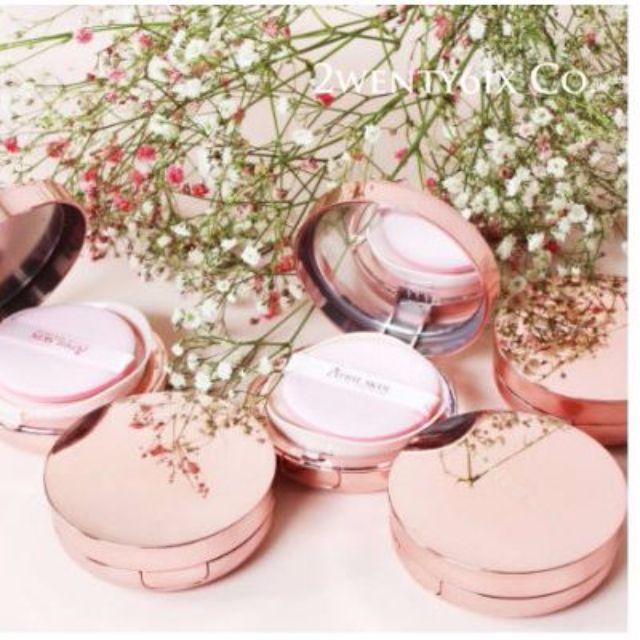 《現貨》正品April Skin魔法玫瑰金氣墊粉餅(鏡面粉紅盒) 強烈推薦商品