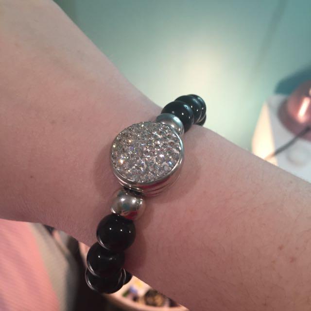 Black And Silver Sparkly Bracelet