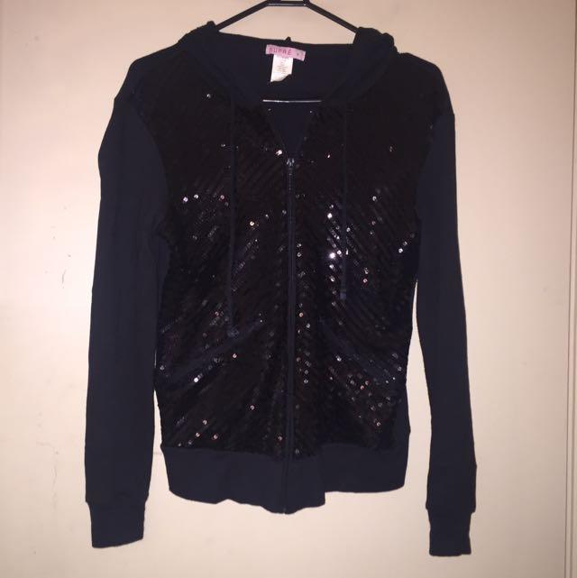 Black Sequinned Supre Jacket