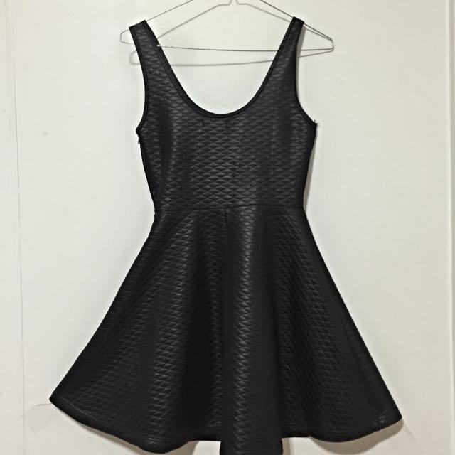 Black Sleeveless Skater Dress Size 8