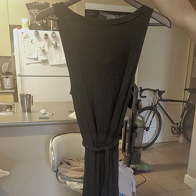 Black Stretchy Maxi Dress