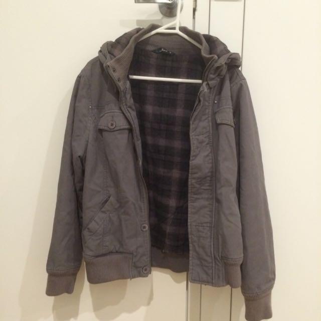 Brown-grey Warm Jacket