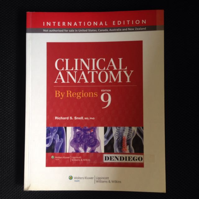 Clinical Anatomy By Regions 9th Ed By Snell Textbooks On Carousell