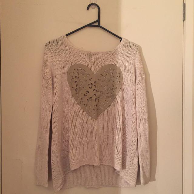 Cream/beige Knit