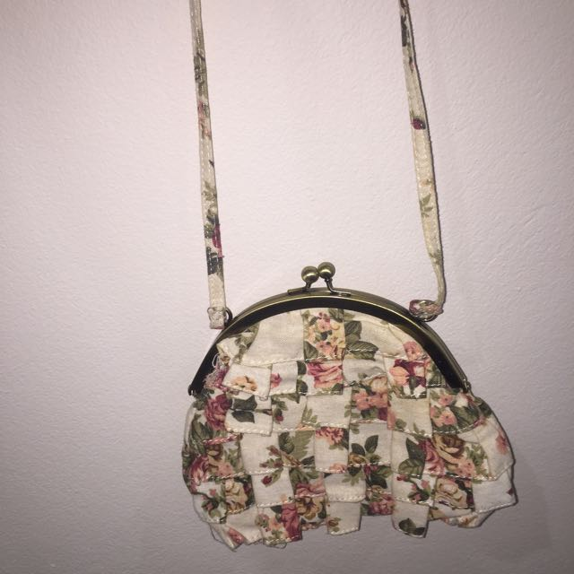 Cute floral shoulder bag