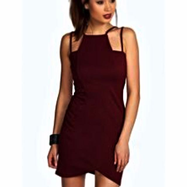 Esme Strappy Bodycon - Plum