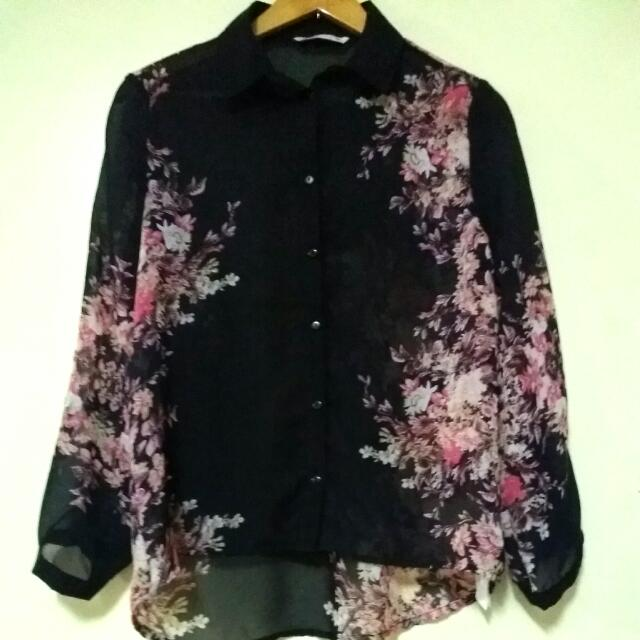 Floral Longsleeves Top from Bershka