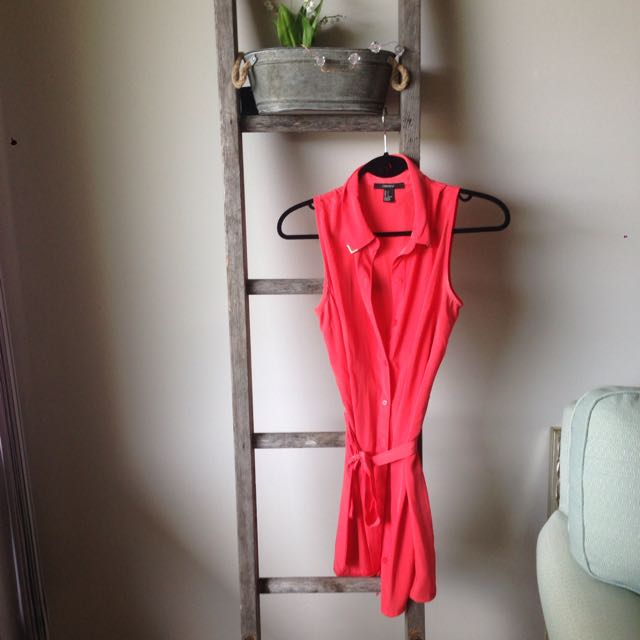 Forever 21 Size SM coral Dress