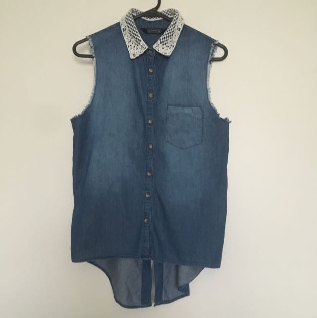 Glassons Denim Short Sleeve Top