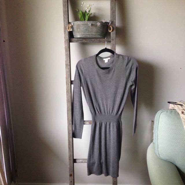 H&M Sz XS Grey Dress