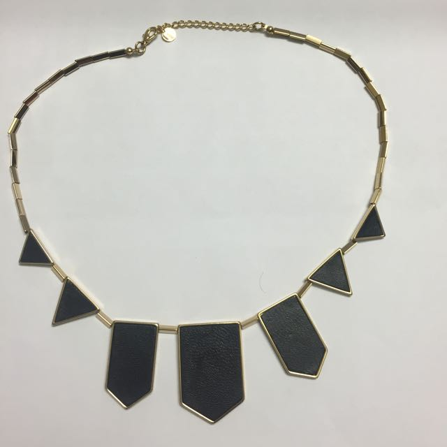 House Of Harlow Classic Station Black Necklace