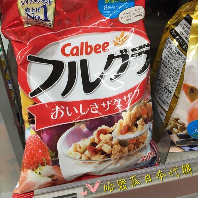 🇯🇵連線ing👉🏻Calbee水果穀物麥片-380g