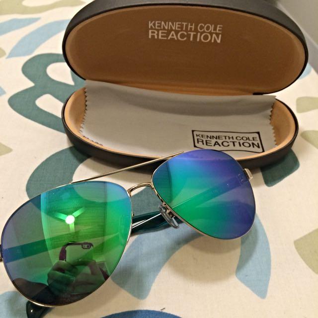Kenneth Cole Reaction Reflective Aviator Sunglasses