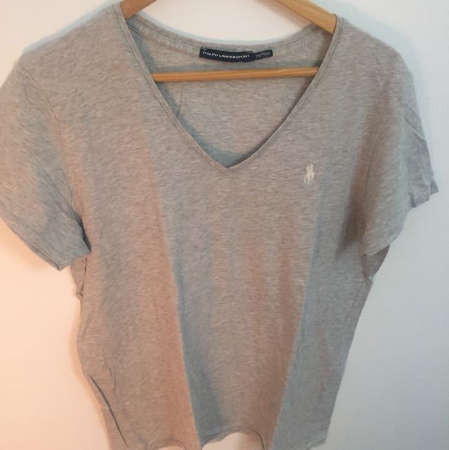 Ladies Grey Ralph Lauren T Shirt