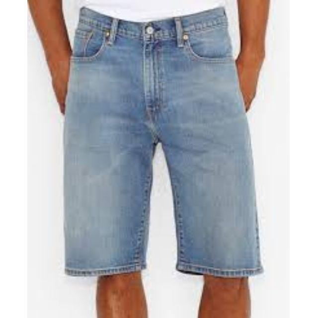 LEVI'S SHORTS 569 32 / 34 淺藍刷色 牛仔短褲